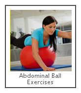 abdominal ball exercises