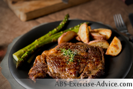 steak dinner for your diet to lose belly fat