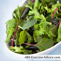 Foods that Burn Belly Fat #2: Fresh Greens