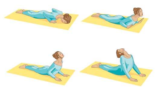 Printable Yoga positions - the cobra pose