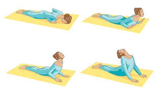 yoga for lower back pain graphic
