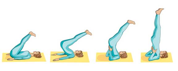 Printable Yoga positions - the shoulder stand pose