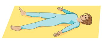 Corpse yoga pose