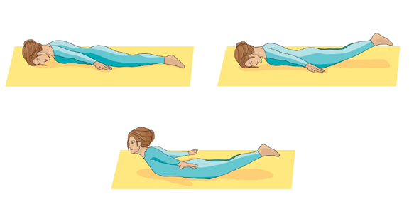 locust yoga pose graphic
